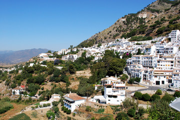 Elevated view of the Western part of town, Mijas.