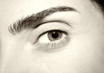 Beautiful insightful look vintage eyes