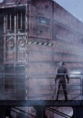 Raumschiff im Dock