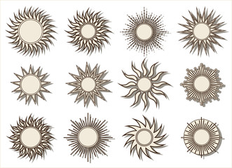 Suns on the sky