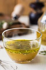 Homemade Vinaigrette with herb