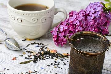 Wall Mural - Custard tea and lilac