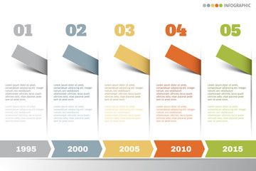 Infographic vector timeline