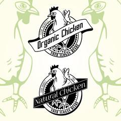 Vintage Vector Chicken Logos, Labels, Banner.