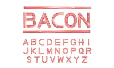 bacon font uppercase