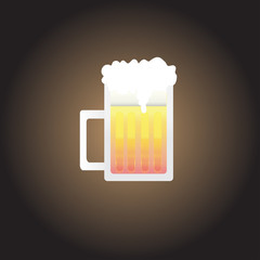 beer mug, Vector illustration.