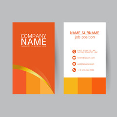 vector Modern simple light business card template with flat user
