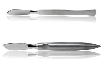 Medical scalpel close-up