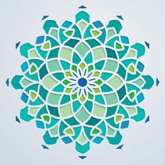 Arabic pattern geometric ornate background