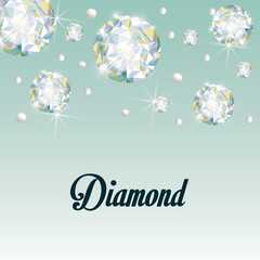 Diamond icon. Elegant concept. Gem design