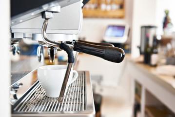 Coffee machine in cafe bar