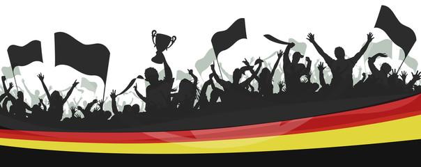 Deutschland Fans Fahnen