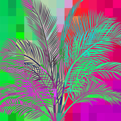 abstract palm in pixels 2
