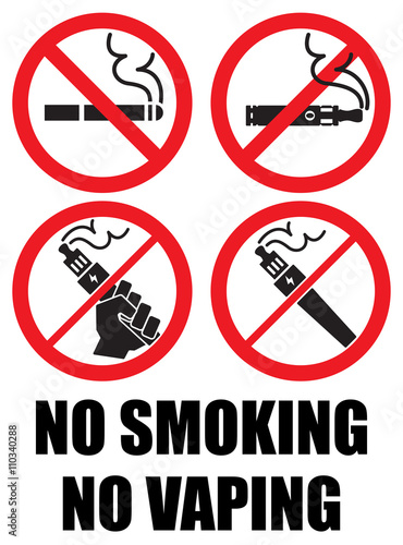 set vaping icons no smoking sign vape stock image and royalty free