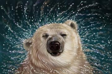 Obraz premium Niedźwiedź polarny