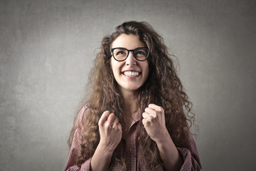 Jubilant girl