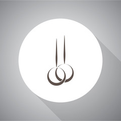 Sport rings vector icon