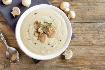 Fotobehang - Mushroom cream soup