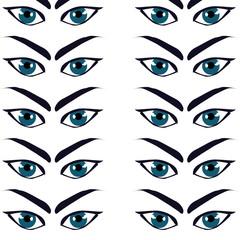 background blue brow eye