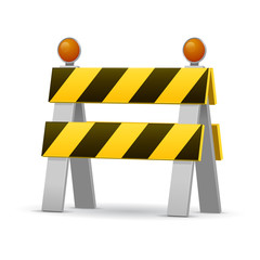 Construction Barrier vector illustration