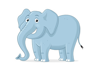 Cartoon elephant vector illustration