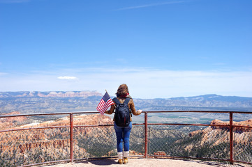 Tourist in Bryce Canyon National Park