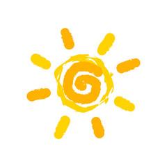 Sun painting vector
