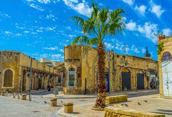 The corner buildings in old Jaffa