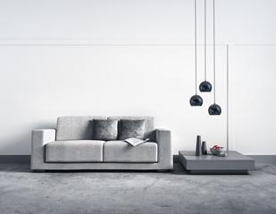 Sofa vor heller Wand