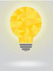 Polygonal yellow bulb