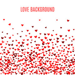Romantic red heart background. illustration
