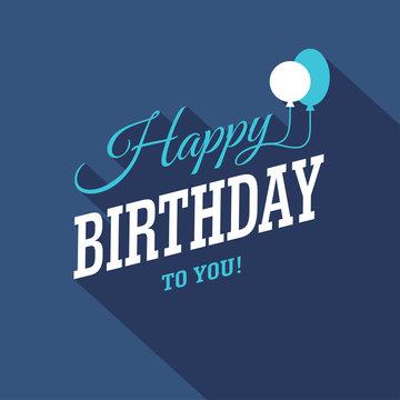 Blue Birthday Card
