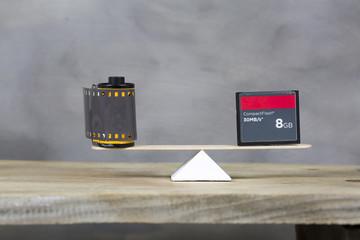 Camera film and memory card
