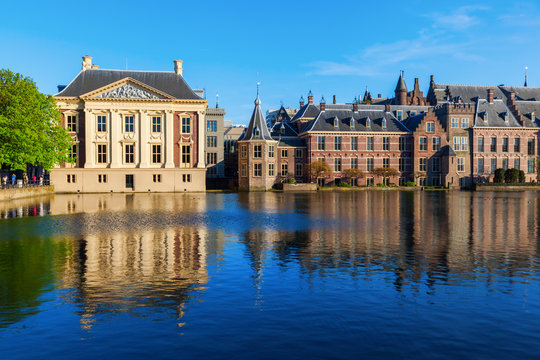Mauritshuis and Binnenhof in The Hague, Netherlands