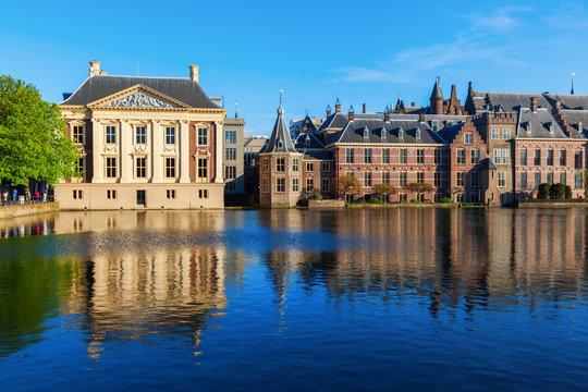 Mauritshuis and Binnenhof in The Hague, Netherlands