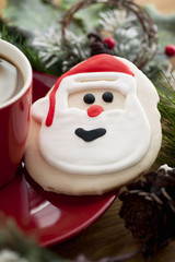santa's cookie and coffee on the side