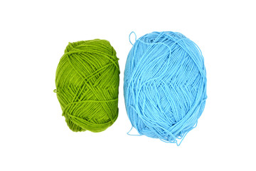 Green and Blue Knitting wool