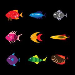 Fish icon, fish icon eps 10, fish icon vector, fish icon flat de