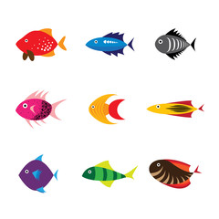 Fish icon, fish icon eps 10, fish icon vector, fish icon flat de