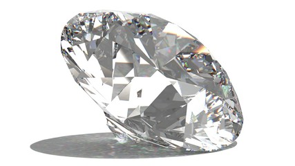 Diamond. 3D illustration. 3D CG.