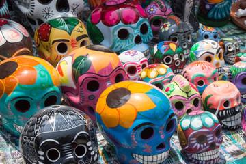Ceramic colorful skulls for sale in Belize