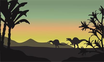 spinosaurus at morning scenery