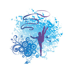 Rhythmic Gymnasts Silhouettes