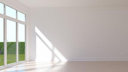 Empty sunny room