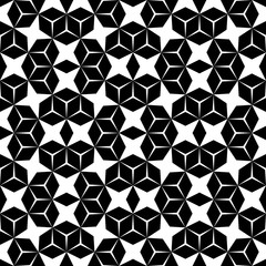 Vector hipster abstract geometry pattern, black and white seamless geometric background, subtle pillow and bad sheet print, creative art deco, simple texture, modern fashion design