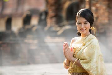 Thai Lady in vintage original Thai costume