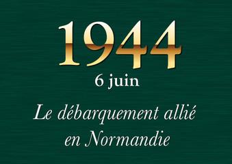 Plaque Histoire - 1944 Débarquement Normandie