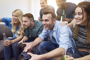 Video game as typical man entertainment.