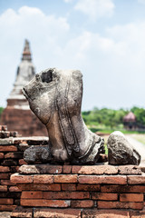 broken buddha statue in Ayutthaya historical park