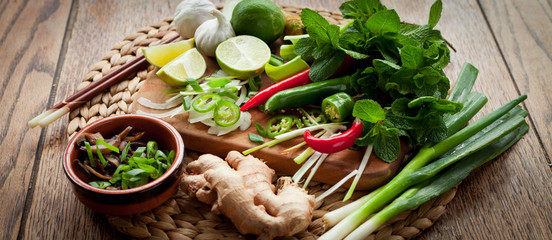 Thai food ingredient board